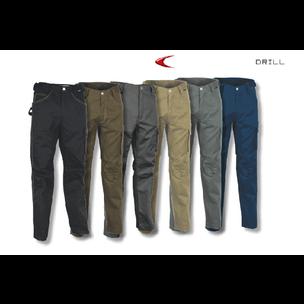 PANTALON DRILL GRIS T-40 V061-0-01