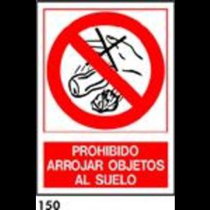 SEÑAL AL. NORM. A3 CAT. R-150 - NO TIRAR OBJECTES