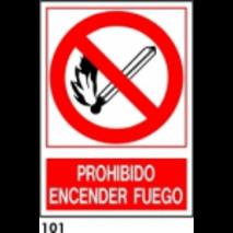 PEGATINA 12X8.5 CAST R-101 - .PROHIBIDO HACER FUEG