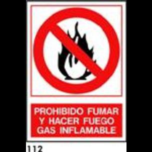 SEÑAL AL. NORM A4 CAST R-112 - GAS INFLAMABLE