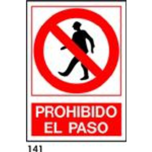 SEÑAL PVC FOTO A4 CAT. R-141 - PROHIBIT EL PAS
