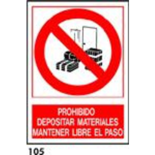 SEÑAL PVC NORM. A3 CAT. R-105 - ... LLIURE DE PAS