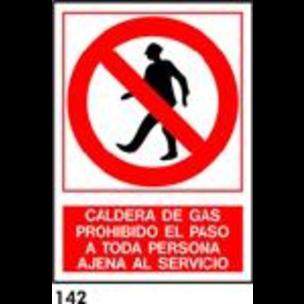 SEÑAL PVC NORM. A4 CAT. R-142 - CALDERA DE GAS
