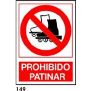 SEÑAL PVC NORM. A4 CAT. R-149 - PROHIBIT PATINAR