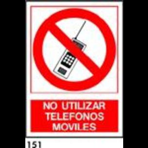 SEÑAL PVC NORM. A4 CAT. R-151 - NO UTLITZAR TELEFO