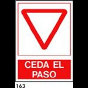 SEÑAL PVC NORM. A4 CAT. R-163 - CEDEIXI EL PAS