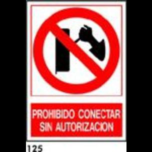 SEÑAL PVC NORM. A4 CAST. R-125 - PRH. CONECTAR