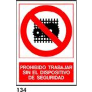 SEÑAL PVC NORM. A4 CAST. R-134 - DISPOSITIVO DE SE