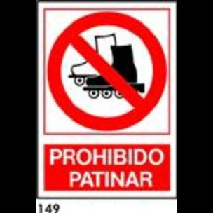 SEÑAL PVC NORM. A4 CAST. R-149 - PROH. PATINAR