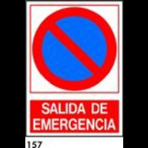 SEÑAL PVC NORM. A4 CAST. R-157 - SALIDA EMERGENCIA