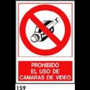 SEÑAL PVC NORM. A4 CAST. R-159 - PROH. USO VIDEOCA