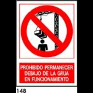 SEÑAL AL. NORM. A4 CAST. R-148 - NO PERMANECER...