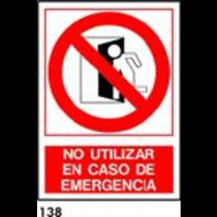 SEÑAL AL. FOTO A4 R-138 - NO USAR EMERGENCIA