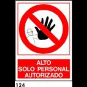 SEÑAL AL. NORM. A4 CAST. R-124 - ALTO SOLO AUTORIZ
