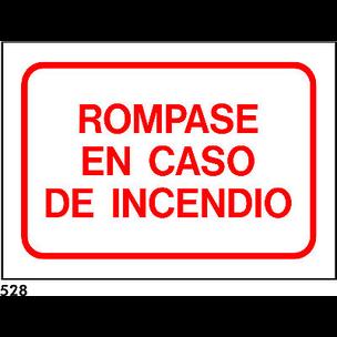 PEGATINA 21x15 cm. R-528 .ROMPASE EN CASO DE....