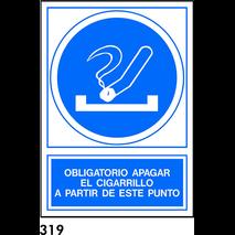 PEGATINA 10X10 S/T R-319 - .APAGAR CIGARRILLO.