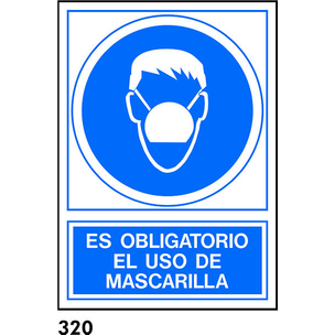 SEÑAL AL.  NORM. A3 R-320 - USAR MASCARILLA