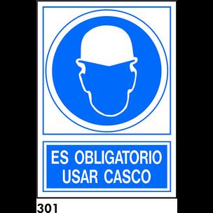 SEÑAL PVC NORM. A4 CAT. R-301 - UTILITZAR CASC