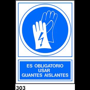 SEÑAL PVC FOTO A4 CAST. R-303 - GUANTES AISLANTES