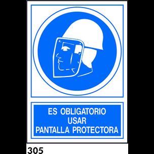 SEÑAL PVC FOTO A4 CAST. R-305 - PANTALLA PROTECTOR