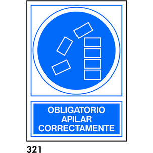 SEÑAL PVC FOTO A4 CAST. R-321 - APILAR CORRECTAMEN