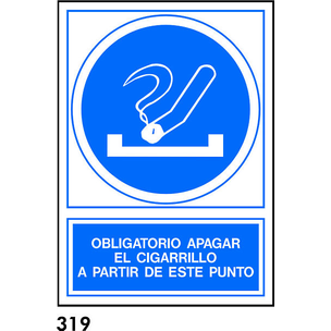SEÑAL AL.  NORM. A3 CAT. R-319 - APAGAR EL CIGARRE
