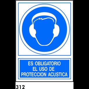 SEÑAL PVC NORM 210X210 S/T R-312 - PROTECCIÓN ACÚS