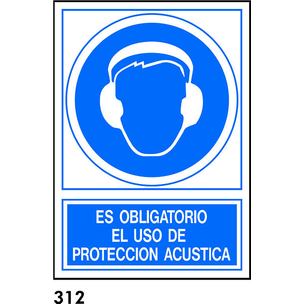 SEÑAL AL.  FOTO A4 R-312 - USO PROTECCION ACUSTICA