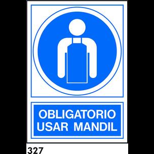 SEÑAL AL.  NORM. A3 CAT. R-327 - UTILITZAR MANDIL