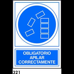 SEÑAL AL.  NORM. A3 CAT. R-321 - APILAR CORRECTAME