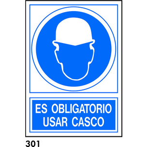 SEÑAL AL.  NORM. A4 CAST. R-301 - OBLIGATORIO CASC