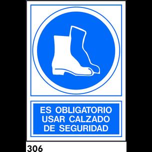 SEÑAL AL.  NORM. A4 CAST. R-306 - USAR CALZADO