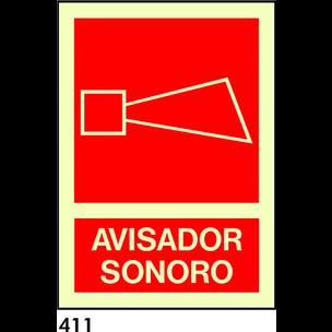 SEÑAL AL. NORM. A4 CAT R-411 - AVISADOR SONOR