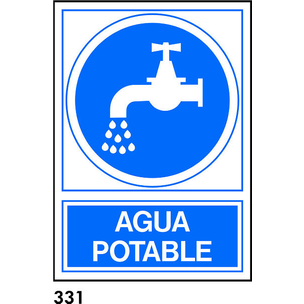 PEGATINA 9,5X9,5 CAT R-331 - AIGUA POTABLE/ NO POT