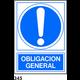 SEÑAL PVC NORM. A3 CAT. R-345 - OBLIGACIO GENERAL