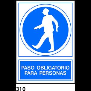 SEÑAL PVC NORM. A3 CAST. R-310 - PASO PERSONAS