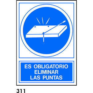 SEÑAL PVC NORM. A3 CAST. R-311 - ELIMINAR LAS PUNT