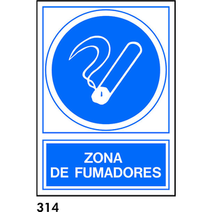 SEÑAL PVC NORM. A3 CAST R-314 - ZONA FUMADORES