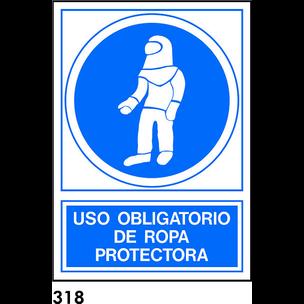 SEÑAL PVC NORM. A3 CAST. R-318 - ROPA PROTECTORA
