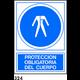 SEÑAL PVC NORM. A3 CAST. R-324 - PROTECCION CUERPO