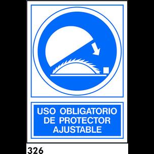 SEÑAL PVC NORM. A3 CAST. R-326 - PROTECTOR AJUSTAB
