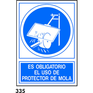SEÑAL PVC NORM. A3 CAST. R-335 - PROTECTOR MOLA
