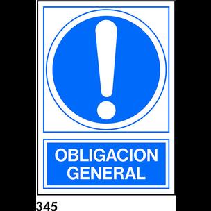 SEÑAL PVC NORM. A3 CAST. R-345 - OBLIGACION GENERA