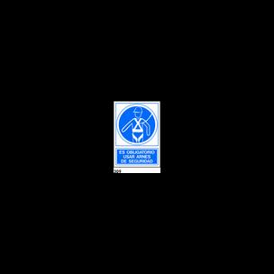SEÑAL PVC NORM. A4 CAT. R-309 - UTILITZAR ARNES