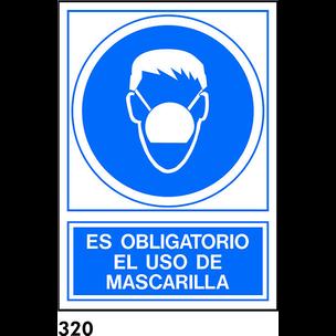 SEÑAL PVC NORM A4 CAT R-320 - UTILITZAR MASCARILLA