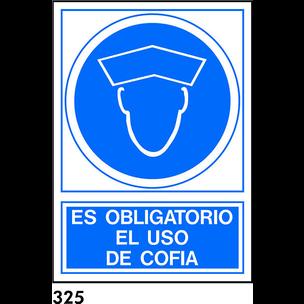 SEÑAL PVC NORM. A4 CAT R-325 - UTILITZAR COFIA