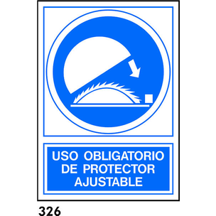 SEÑAL PVC NORM. A4 CAT R-326 - PROTECTOR AJUSTABLE