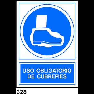 SEÑAL PVC NORM. A4 CAT. R-328 - UTILITZAR CUBREPEU