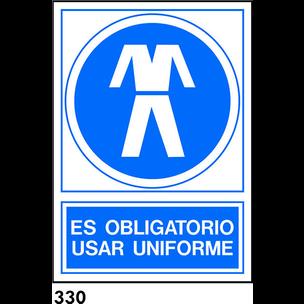SEÑAL PVC NORM. A4 CAT. R-330 - UTILITZAR UNIFORME