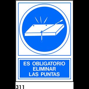 SEÑAL PVC NORM A4 CAST R-311 - OBL. ELIMINAR PUNTA